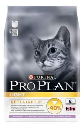 Сухой корм для кошек PRO PLAN Light с избыточным весом, индейка, 0,4кг