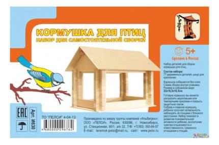 Конструктор деревянный Пелси Кормушка для птиц