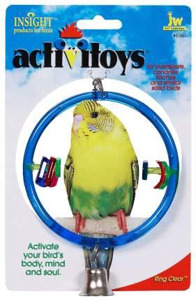 Игрушка для птиц  JW Кольцо с колокольчиком, Пластик, Металл, 22см JW31051/10518