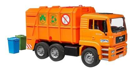 Мусоровоз MAN TGA оранжевый Bruder (Германия) 02-760