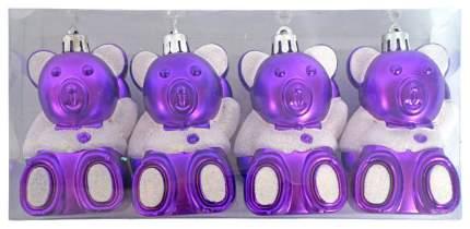 Набор елочных игрушек Новогодняя сказка Мишка 972305 8,5 см 4 шт.