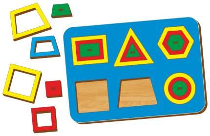 Развивающая игрушка Woodland Рамка-вкладыш Монтессори паутинка 2 81102