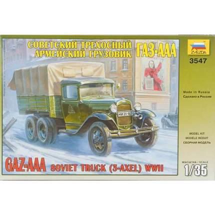 Советский армейский трехосный грузовик ГАЗ-ааа сборная модель 1/35 Zvezda 3547