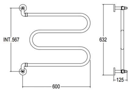 Водяной полотенцесушитель Margaroli 400CR