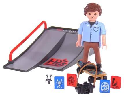 Игровой набор Playmobil Экстра-набор:Скейтбордист с пандусом
