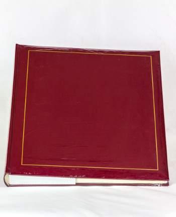 Фотоальбом под уголки на 60 страниц 28х32 см, винил красный