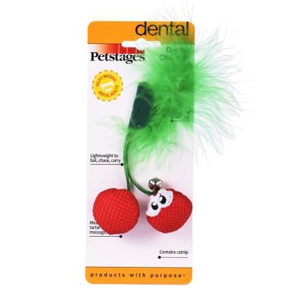Игрушка для кошек Petstages Dental Вишни с кошачьей мятой, 23 г, 8,9х3,8 см