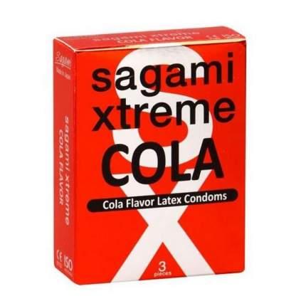 Презервативы Sagami Xtreme Cola ароматизированные 3 шт.