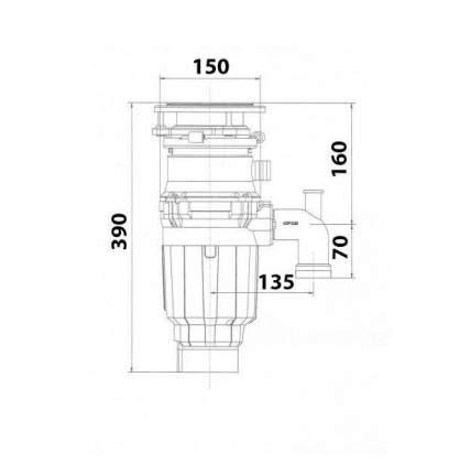 Измельчитель пищевых отходов Bone Crusher BC 910-SL (Slim Line)