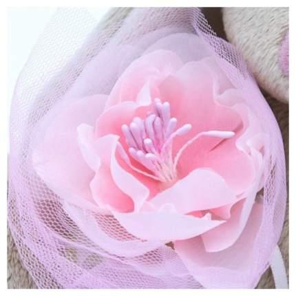 Мягкая игрушка BUDI BASA Зайка Ми c розовым цветком, 15 см