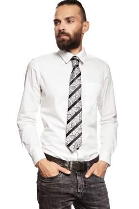Классический галстук Издалека и вблизи в диагональную полоску Signature 204434 серый