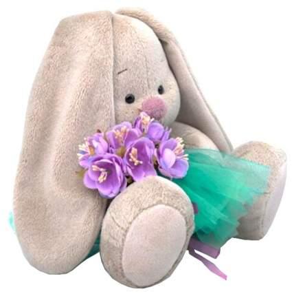 Мягкая игрушка Budi Basa Зайка Ми в юбочке и с сиреневым букетом 23 см