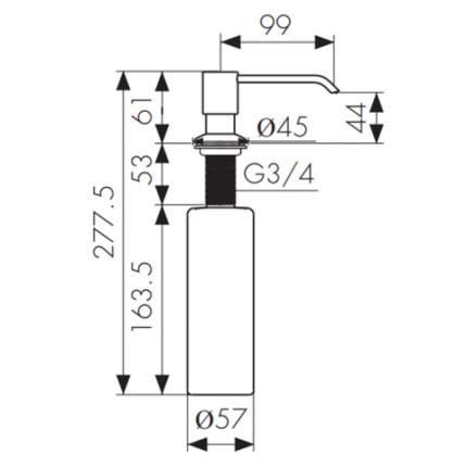 Дозатор для кухонной мойки Kaiser KH-3000 CR