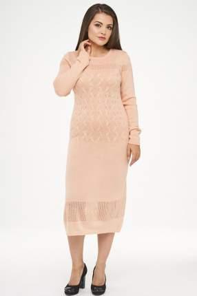 Платье женское VAY 182-2277 коричневое 54 RU