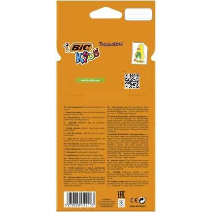 Карандаши цветные BIC Kids Tropicolors Коробка x12