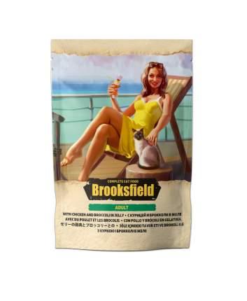 Влажный корм для кошек BROOKSFIELD Adult, курица с брокколи в желе, 22шт по 85г
