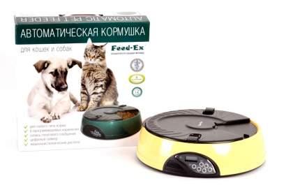 Автокормушка для кошек и собак Feed-Ex, жк дисплей, с таймером, желтая 1.8 л