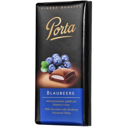 Шоколад Porta молочный с начинкой голубика 100 г