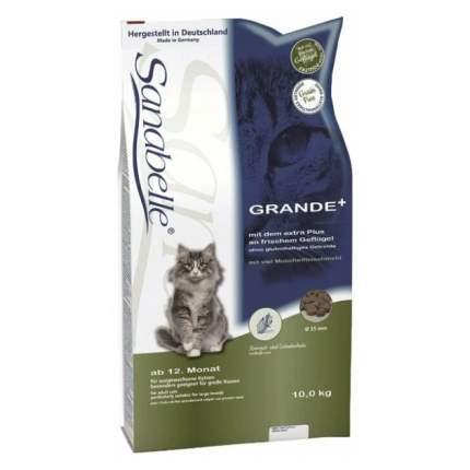 Сухой корм для кошек Sanabelle Grande, для крупных пород, домашняя птица, 10кг