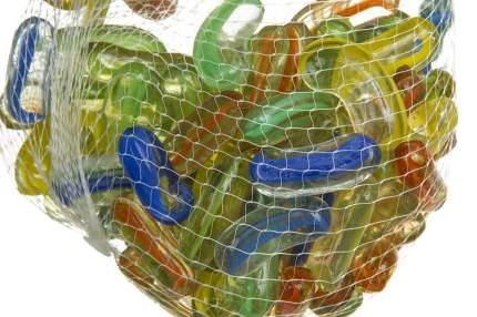 Набор декоративных камней для аквариума Hoff 7708277, стекло, разноцветные, 12х8х2см, 20шт