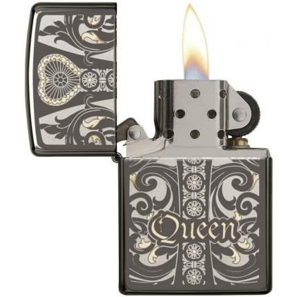 Бензиновая зажигалка Zippo Zippo Fit for a Queen Black Ice