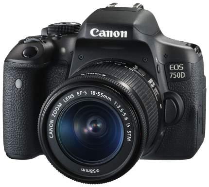 Фотоаппарат цифровой зеркальный Canon EOS 750D Kit 18-55 IS STM Black