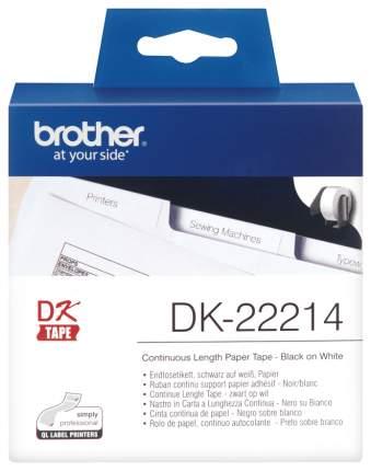 Лента для печати наклеек Brother DK-22214 Белый