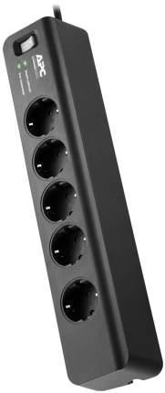 Сетевой фильтр APC PM5B-RS, 5 розеток, 1,83 м, Black