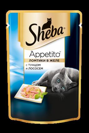 Влажный корм для кошек Sheba Appetito с тунцом и лососем, 85г