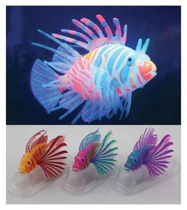 Рыба-лев цветная силиконовая, светящаяся в темноте,мал. 10х8х2,5см