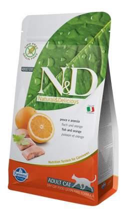 Сухой корм для кошек Farmina N&D, беззерновой, рыба и апельсин, 10кг