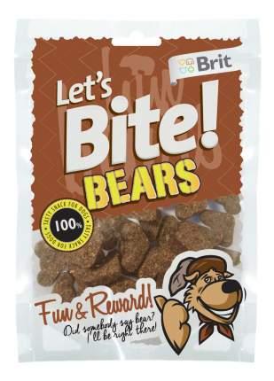 Лакомство для собак Brit Let's Bite Bears, оригинальная форма, мясо, 150г