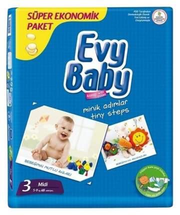 Подгузники Evy Baby 3 (5-9 кг), 68 шт.