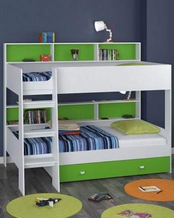 Двухъярусная кровать Golden Kids 1 белая/зеленая