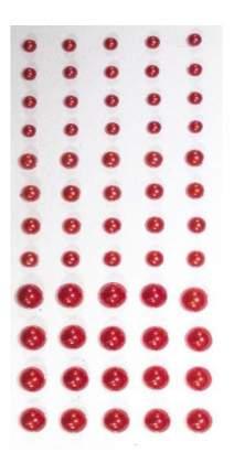 Набор для создания украшений Кустарь Полужемчужины клеевые 3-6 мм красные 60 штук