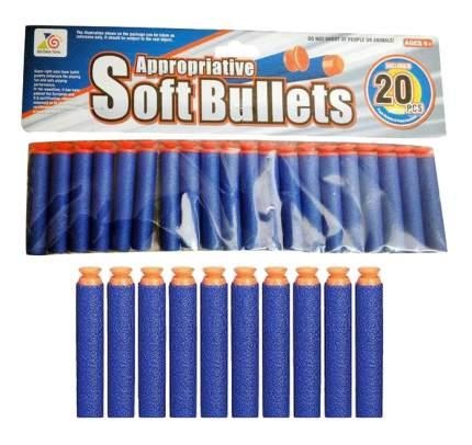 Набор снарядов с присосками, 20 шт., 28x1,5x14,5 см