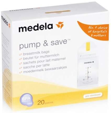 Пакеты для сбора и хранения грудного молока MEDELA Pump&Save, 20 шт. (008.0071)