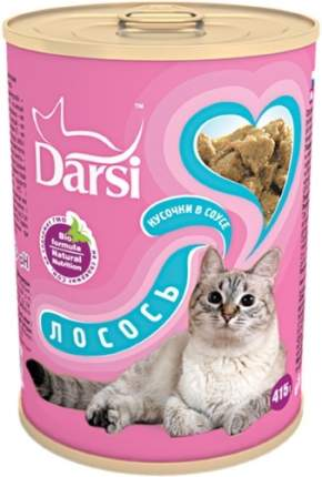Консервы для кошек Darsi Adult, с лососем в соусе, 415г