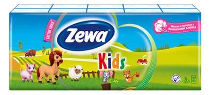 Платки Zewa Plus носовые детские, 10 шт