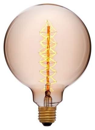 Лампа накаливания E27 40W шар золотой 052-030