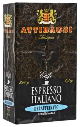 Кофе молотый Attibassi espresso italiano decaffeinato без кофеина 250 г
