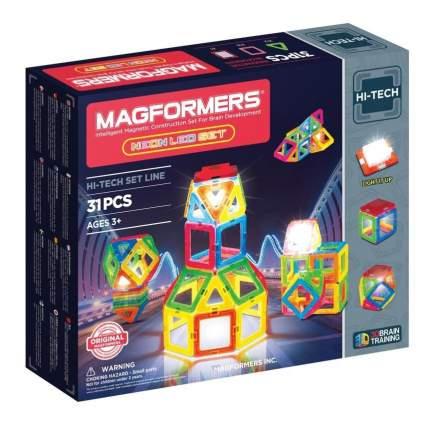 Конструктор магнитный Magformers Neon Led