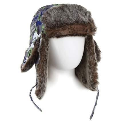 Детская шапка меховая Lappi Kids 0905 р.46 см 813 серый с зеленым