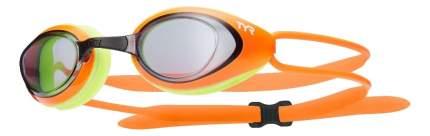 Очки для плавания TYR Black Hawk Racing LGBH оранжевые/серые (814)