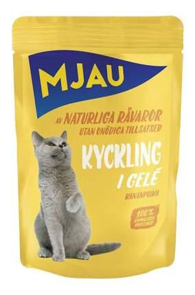 Влажный корм для кошек Mjau Chunks in Jelly, мясные кусочки в желе с курицей, 85г