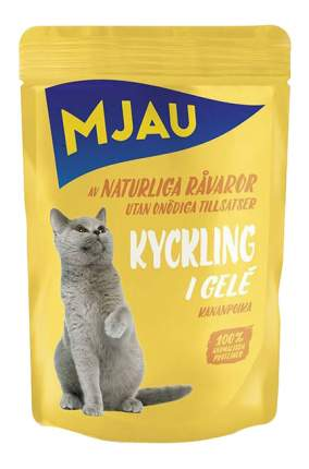 Влажный корм для кошек Mjau, курица, 85г
