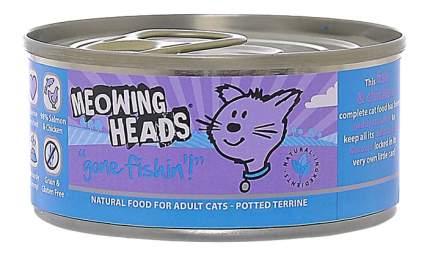 Консервы для кошек Barking Heads Meowing Heads, курица, рыба, 100г