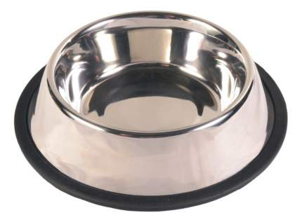 Одинарная миска для кошек и собак TRIXIE, сталь, резина, серебристый, 2.8 л
