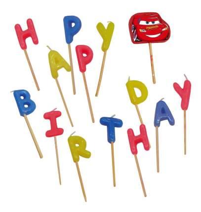 Свеча для торта PROCOS Тачки Happy Birthday