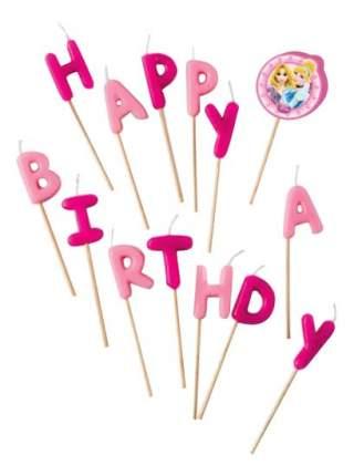 Свеча для торта PROCOS Принцессы Disney - Сказочный мир Happy Birthday